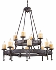 ELK Twelve Light Chandelier Cambridge EK-14006