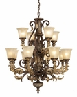 ELK Twelve Light Chandelier Regency EK-2165