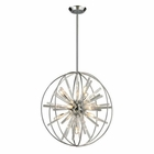 ELK Twilight Collection 10 Light Pendant in Polished Chrome EK-11562-10