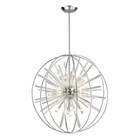 ELK Twilight Collection 15 Light Pendant in Polished Chrome EK-11563-15