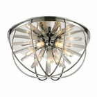 ELK Twilight Collection 6 Light Flush Mount in Polished Chrome EK-11561-6