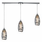ELK Twister 3 Light Pendant in Polished Chrome EK-31338-3L-VINW