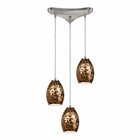 ELK Venture 3 Light Pendant in Satin Nickel EK-10255-3