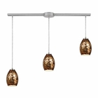 ELK Venture 3 Light Pendant in Satin Nickel EK-10255-3L