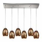 ELK Venture 6 Light Pendant in Satin Nickel EK-10255-6RC