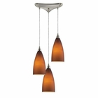 ELK Vesta 3-Light Pendant in Tobacco in Satin Nickel EK-2582-3