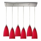 ELK Vesta 6 Light Pendant in Satin Nickel EK-2583-6RC