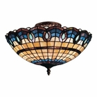 ELK Victorian Ribbon 3-Light Semi Flush in Classic Bronze EK-936-CB
