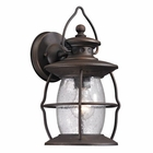 ELK Village Lantern Collection 1 Light Outdoor Sconce in Weathered Charcoal EK-47040-1