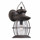 ELK Village Lantern Collection 1 Light Outdoor Sconce in Weathered Charcoal EK-47042-1
