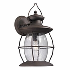 ELK Village Lantern Collection 1 Light Outdoor Sconce in Weathered Charcoal EK-47044-1