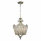 ELK Villegosa Collection 6 Light Pendant in Aged Silver EK-11710-6