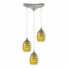 ELK Vines 3 Light Pendant in Satin Nickel EK-31658-3
