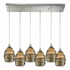 ELK Vines 6 Light Pendant in Satin Nickel EK-31142-6RC