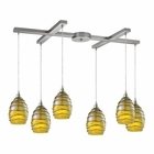 ELK Vines 6 Light Pendant in Satin Nickel EK-31658-6