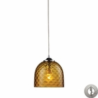 ELK Viva 1-Light Amber Pendant in Polished Chrome With Adapter Kit EK-31080-1AMB-LA