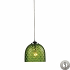 ELK Viva 1-Light Green Pendant in Polished Chrome With Adapter Kit EK-31080-1GRN-LA