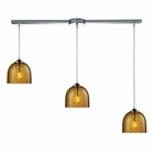 ELK Viva 3-Light Amber Pendant in Polished Chrome EK-31080-3L-AMB