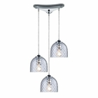 ELK Viva 3-Light Clear Pendant in Polished Chrome EK-31080-3CLR