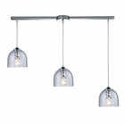 ELK Viva 3-Light Clear Pendant in Polished Chrome EK-31080-3L-CLR