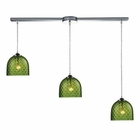 ELK Viva 3-Light Green Pendant in Polished Chrome EK-31080-3L-GRN