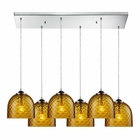 ELK Viva 6 Light Pendant in Satin Nickel EK-31080-6RC-AMB