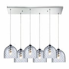 ELK Viva 6 Light Pendant in Satin Nickel EK-31080-6RC-CLR