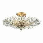 ELK Viva Collection 3 Light Semi Flush in Aged Silver EK-31431-3