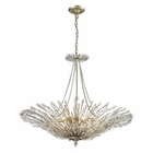 ELK Viva Collection 8 Light Pendant in Aged Silver EK-31433-8