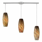 ELK Vortex 3-Light Rainbow Pendant in Satin Nickel EK-10079-3L-RV