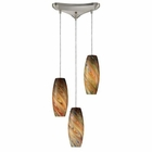 ELK Vortex 3-Light Rainbow Pendant in Satin Nickel EK-10079-3RV