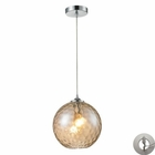 ELK Watersphere 1 Light Pendant in Polished Chrome With Adapter Kit EK-31380-1CMP-LA