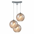 ELK Watersphere 3 Light Pendant in Polished Chrome EK-31380-3CMP