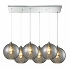 ELK Watersphere 6 Light Pendant in Polished Chrome EK-31380-6RC-SMK