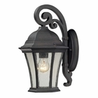 ELK Wellington Park 1 Light Outdoor Sconce in Weathered Charcoal EK-45050-1