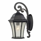 ELK Wellington Park 1 Light Outdoor Sconce in Weathered Charcoal EK-45051-1