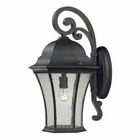 ELK Wellington Park 1 Light Outdoor Wall Mount in Weathered Charcoal EK-45052-1