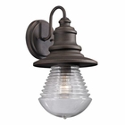 ELK Westport Collection 1 Light Outdoor Sconce in Weathered Charcoal EK-47045-1