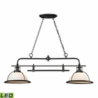 ELK Wilmington Collection 2 Light Island/Billiard Light in Oil Rubbed Bronze- Led EK-55046-2-LED