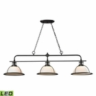 ELK Wilmington Collection 3 Light Island/Billiard Light in Oil Rubbed Bronze - Led EK-55047-3-LED