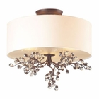 ELK Winterberry 3 Light Semi Flush in Antique Darkwood EK-20089-3