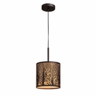 ELK Woodland Sunrise 1-Light Pendant in Aged Bronze EK-31073-1