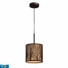 ELK Woodland Sunrise 1-Light Pendant in Aged Bronze - Led EK-31073-1-LED