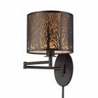 ELK Woodland Sunrise 1 Light Swingarm in Oil Rubbed Bronze EK-31069-1