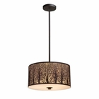 ELK Woodland Sunrise 3-Light Pendant in Aged Bronze EK-31074-3