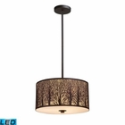 ELK Woodland Sunrise 3-Light Pendant in Aged Bronze - Led EK-31074-3-LED