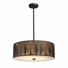 ELK Woodland Sunrise 5-Light Pendant in Aged Bronze EK-31075-5