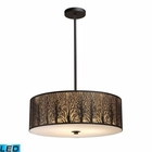 ELK Woodland Sunrise 5-Light Pendant in Aged Bronze - Led EK-31075-5-LED