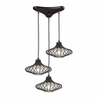 ELK Yardley 3 Light Pendant in Oil Rubbed Bronze EK-14240-3