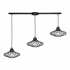 ELK Yardley 3 Light Pendant in Oil Rubbed Bronze EK-14240-3L